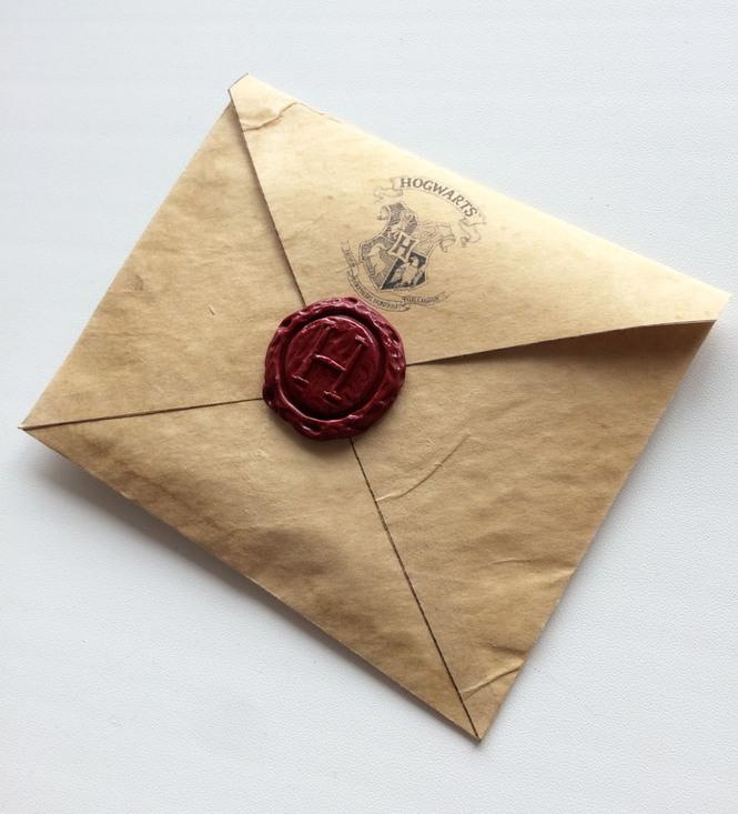 Открытка в виде письма из хогвартса